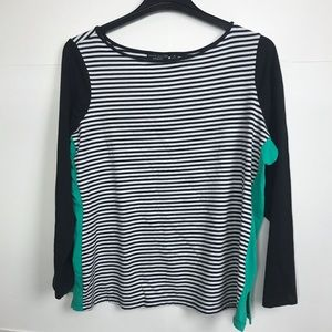 🎉3/25 Susan Graver weekend popover striped shirt